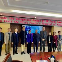 December 2019 First People's Hospital Of Yunnan Province HM Trade Commissioner Richard Burn